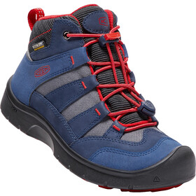 Keen Hikeport Mid WP Kengät Lapset, dress blues/firey red